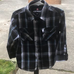 Airwalk Plaid Button Down Shirt
